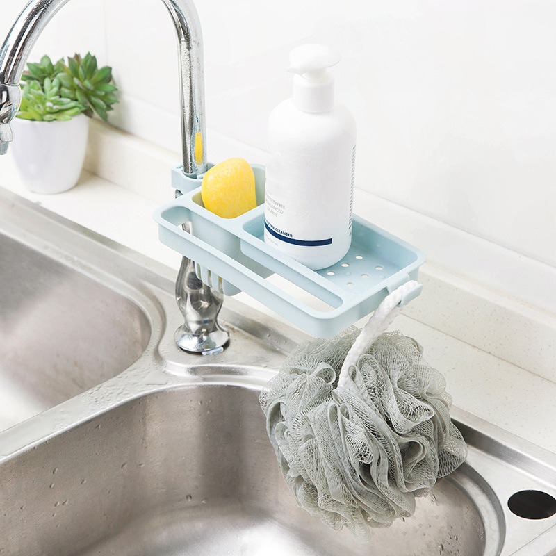 Drain Rack Water Faucet Sink Sponge Soap Rag Storage Shelf Holder Home Kitchen Tool Adjustable  _WK