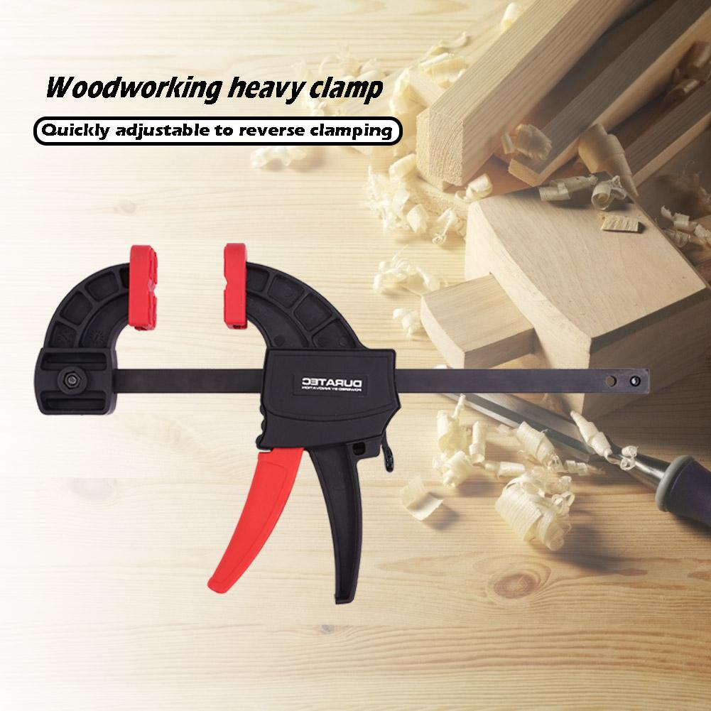 DURATEC Non Slip Heavy Duty F Clamp Carpenter High Strength Engineering Plastics Clamps Woodworking Tool Comfortable Use