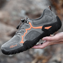 Summer Breathable Men Hiking Shoes 38-48 Suede Mesh Outdoor Men Sneakers Climbing Shoes Men Sport Shoes Breathable Walking Shoes цена 2017