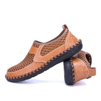 Męskie obuwie plażowe męskie mokasyny męskie oddychające siatkowe trampki męskie szybkie osuszacz butów lekkie płaskie buty męskie buty tanie i dobre opinie QianLeiStarFlash Mesh (air mesh) Przypadkowi buty RUBBER Slip-on Pasuje prawda na wymiar weź swój normalny rozmiar Buty łodzi