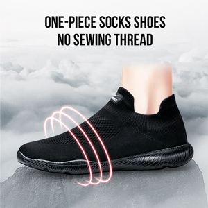 Image 3 - ONEMIX גברים נעלי ספורט נעל 2019 חדש גרב נעלי רשת לנשימה הליכה נעלי מאמני אור להחליק על Tenis Zapatillas Hombre