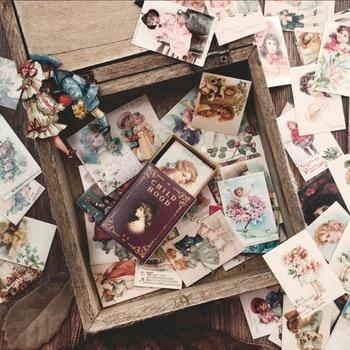 100 Uds libro de estampillas colección Serie papel Kraft clásico Scrapbooking tarjeta hacer diario DIY diario Ablum decorativo LOMO tarjeta