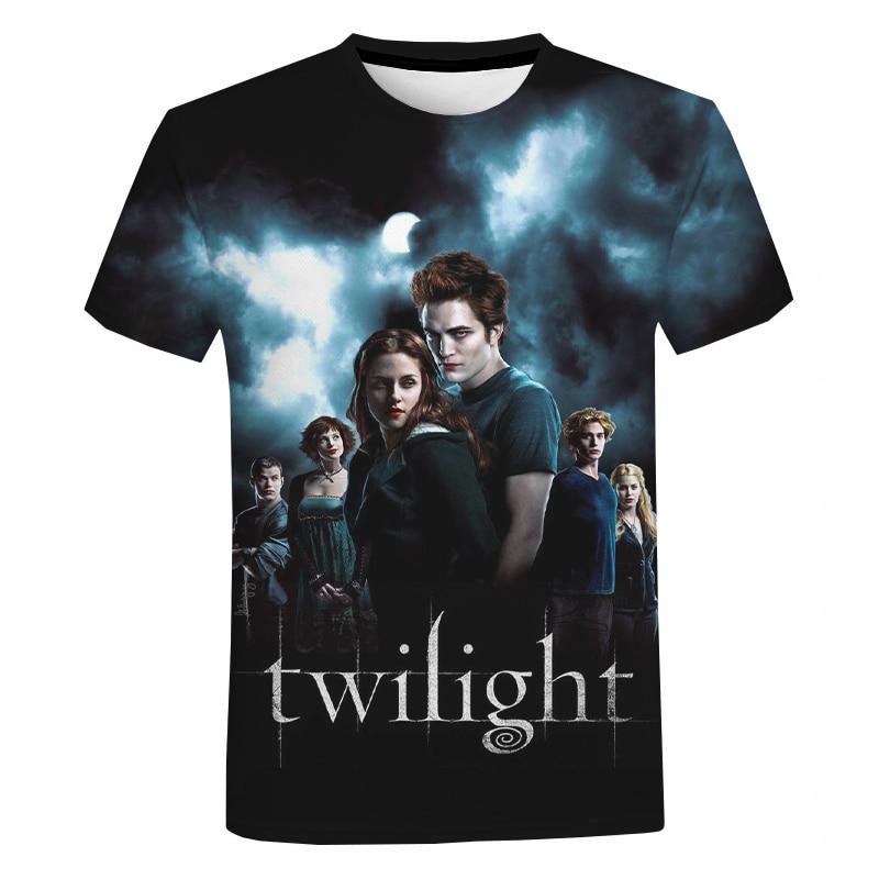 2020 New Arrival The Twilight Saga 3D Print T-shirt Men Women Summer Fashion Casual Short Sleeves Harajuku Streetwear T Shirt