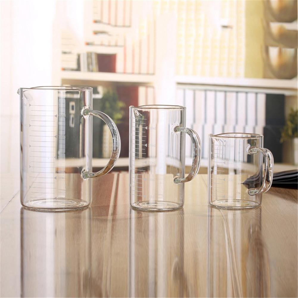 Glass With Scale Measuring Cup Transparent Glass Cups High Capacity High Temperature Resistant Milk Glass Juice Glass Fair