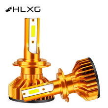 HLXG 2X mini LED H1 H8 H9 H11 H4 9005 HB3 HB4 9006 led headlight France stock 80W 12000LM car light bulb Auto lamp h7 LED canbus