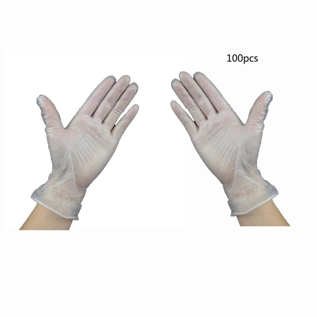 100pcs Food Grade Disposable Gloves Anti-static PVC Gloves For Food Cleaning Cooking Restaurant Kitchen Accessories