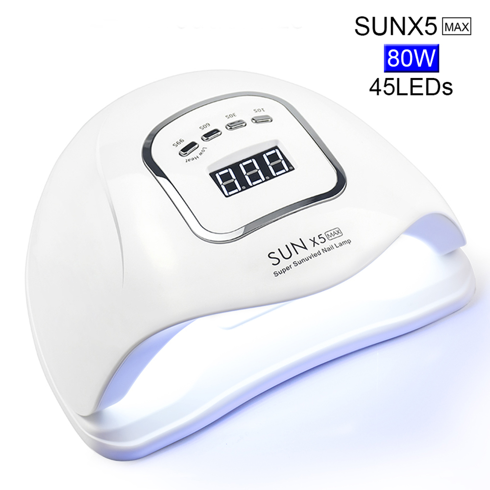 80/72/54/24W UV LED Nail Lamp For Manicure Nail Dryer For All Gels Polish With Automatic Sensor Smart Temperature Control