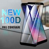 100D de vidrio templado para Samsung Galaxy A6 A8 más A7 A9 2018 Protector de pantalla J2 J4 Core J6 J4 más J2 2018 película protectora caso