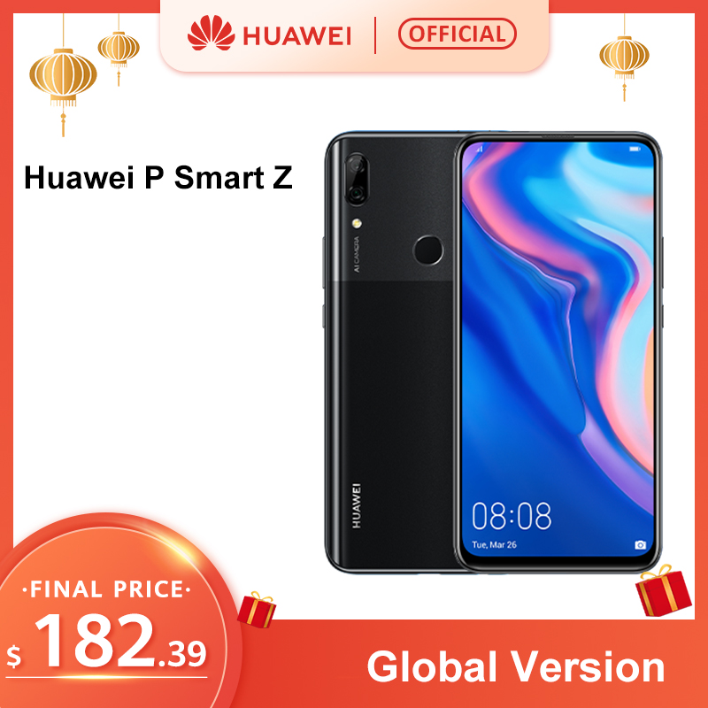 In Stock Global Version Huawei P Smart Z MobilePhone 4GB 64GB Kirin 710 16MP Cameras Auto Pop Up Front Camera 6.59'' Cellphone
