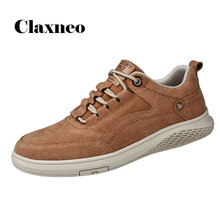 CLAXNEO Mans Casual Leather Shoes Fashion 2020 Spring Summer Suede Leather Sneakers Male Shoe clax Mens Walking Footwear