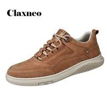 CLAXNEO Mans obuwie skórzane moda 2020 wiosna lato zamszowe trampki męskie buty clax męskie obuwie spacerowe