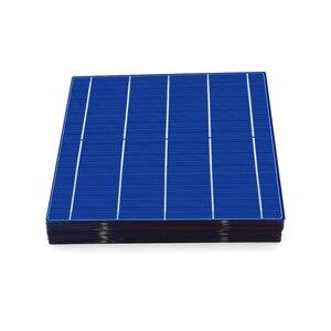 Image 2 - Polikristal silikon GÜNEŞ PANELI 10/50/80/100 adet 156*156mm güneş pili 6x6 sınıf bir PV DIY fotovoltaik Sunpower C60 4.79W 0.5V