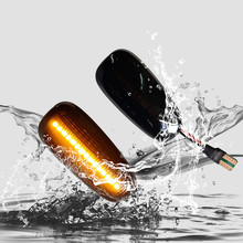 2 pieces Dynamic Sequential Flowing LED Turn Signal Side Marker Indicator Blinker For Opel Astra G 1998-2009 Light