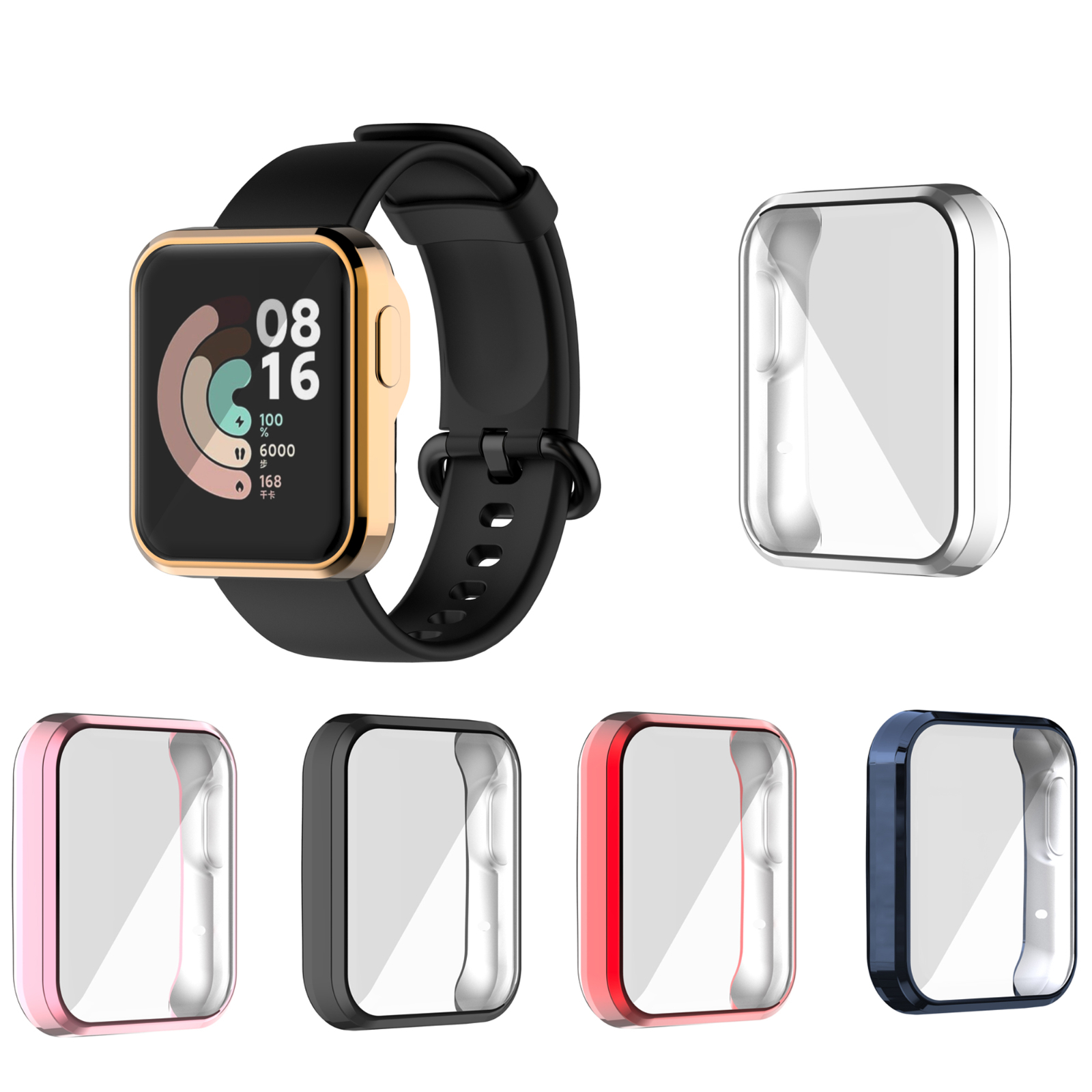 Защитный чехол из ТПУ с покрытием для Xiaomi Mi Watch Lite, защитный чехол на весь экран для Mi Watch Lite