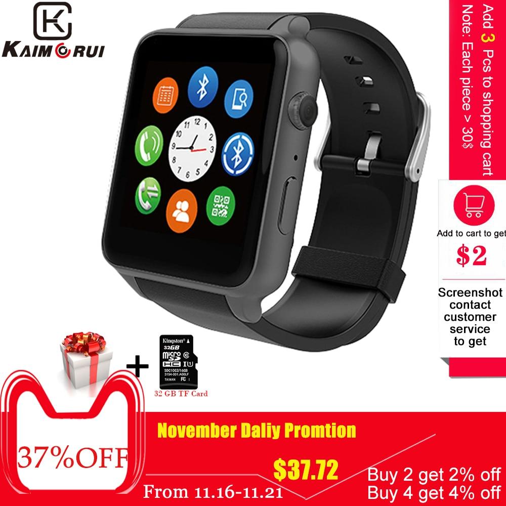 Kaimorui Gt88 Relógio Inteligente Android Pedômetro Freqüência Cardíaca Rastreador De Iluminação Esporte Smartwatch Para Ios Andriod Telefone Câmera Relógio