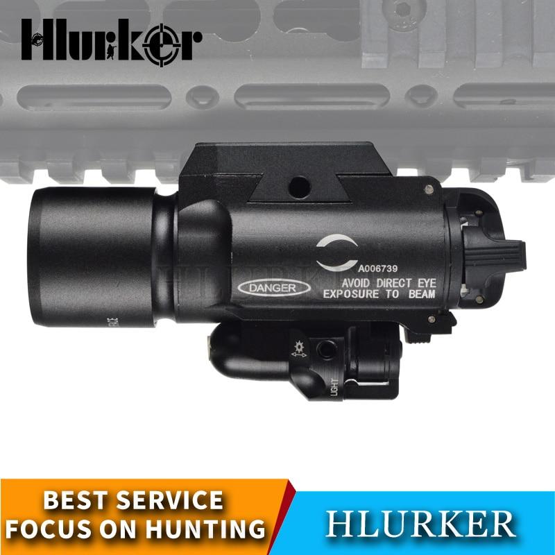 caca tatico exercito x400 armas de airsoft glock lanterna olheiro 3w 400 lumen luz arma com