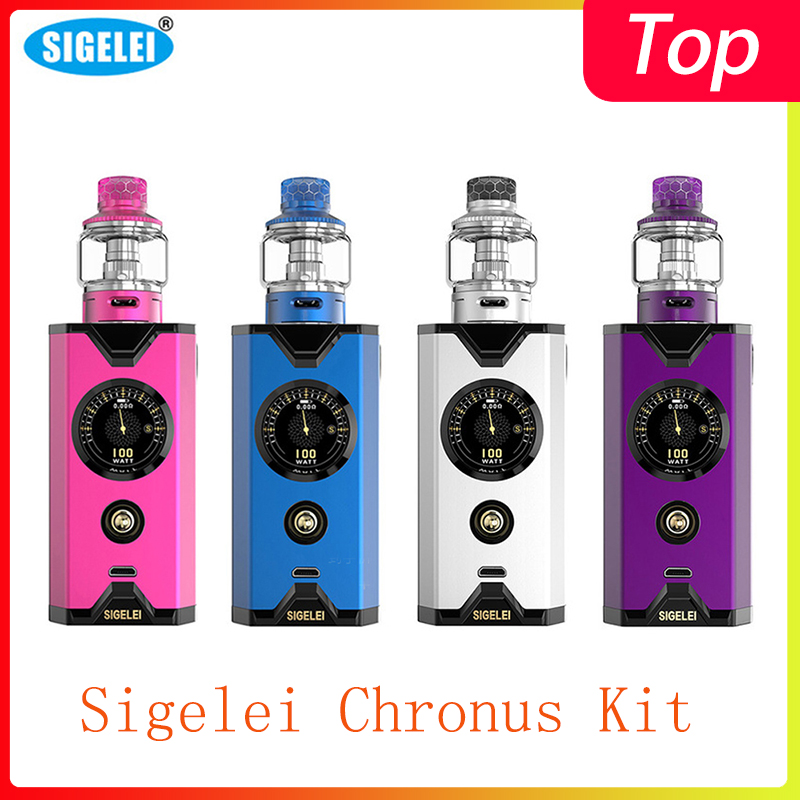 Clearence Sigelei Chronus Kit Powered By 18650 Battery With TFT Screen 510 Connection Electronic Cigarrete Vape Kit