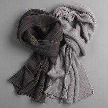 Новое поступление мужской шарф вязаный весенний унисекс толстый теплый зимний шарф длинный размер мужской кашемировый теплый женский шарф