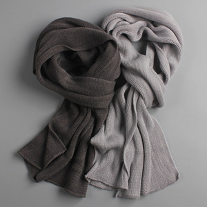 2019 NEW arrived men scarf knit spring Unisex Thick Warm winter scarves long size male cashmere warmer women's scarves(China)