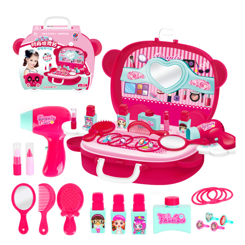 Girls Makeup Pretend Play Set Play House Do Simulation Educational Toys DIY Cosmetics Baby Gift For Kid Children Babies