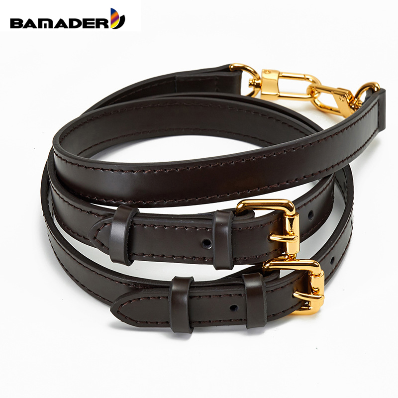 BAMADER Genuine Leather Bag Strap High Quality Shoulder Strap Bag Accessories Narrow Bag Strap Hot Fashion Shoulder Bag Parts
