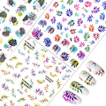 New Arrival 12.3*7.6CM 3D Nail Sticker Flower Leaf Series Designs Nail Art Decorations Foil Manicure Stickers for Nails