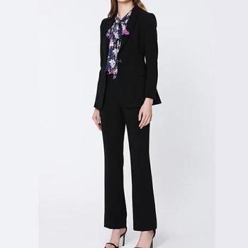 Biznesowe damskie formalne spodnie garnitury z długim rękawem marynarka spodnie biurowa damska wywiad odzież do pracy biurowej garnitury damskie spodnie garnitury tanie i dobre opinie auguswu CN (pochodzenie) Na wiosnę jesień POLIESTER Na co dzień guzik POLIESTER BAWEŁNA Cotton blended 71 (włącznie)-80 (włącznie)