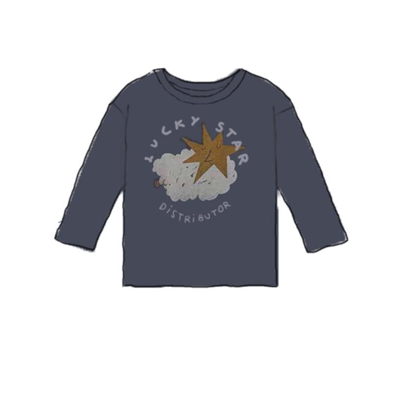Kids T Shirts 2021 New Autumn Brand Design Boys Girls Cute Print Long Sleeve Tops Baby Children Cotton Fashion T Shirts Clothes 2