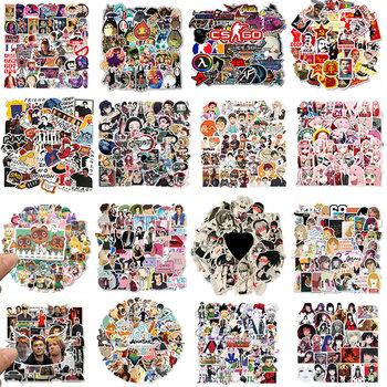 30 50 sztuk Cartoon naklejki Anime jeden kawałek Haikyuu Kimetsu nie Yaiba naklejki wodoodporne naklejki deskorolka gitara Laptop przechowalnia zabawki dla dzieci tanie i dobre opinie ZOENJANG CN (pochodzenie) 1 2in(3CM)-3 9 in(10CM) Waterproof PVC Leave trace instagram anime stickers children kpop random 1Pack 50g