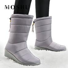 Botas de invierno botas de mujer botas de nieve de media pantorrilla Zapatillas altas botas impermeables de Mujer Zapatos de felpa 2019