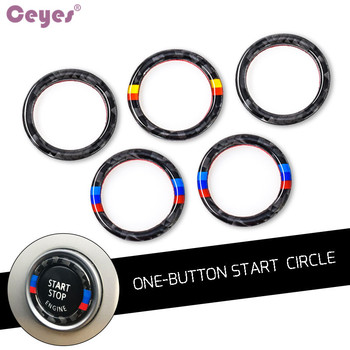 Ceyes For BMW E90 E92 E93 For M 3 Series German Flag Auto Engine Start Stop Circle Ring Covers Stickers Car Styling Accessories image