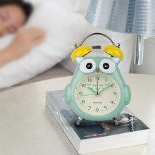 Réveil créatif en forme de hibou, horloge en forme de dessin animé mignon, décor de chambre à coucher pour la maison, réveil de répétition pour les étudiants, cadeau de noël