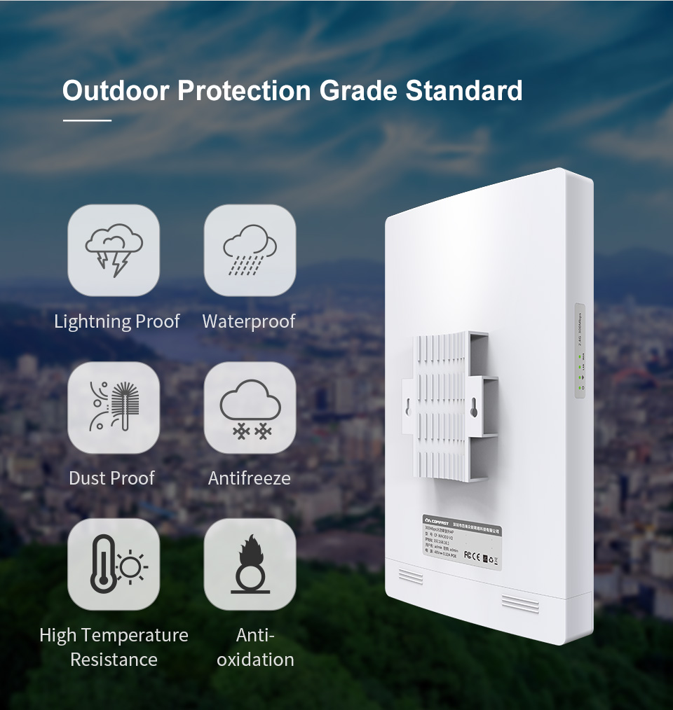 Comfast 1300Mbps Gigabit Outdoor AP Wi Fi Access Point Dual Band 13dBi Antenna WiFi Cover Base Station Wifi Router Hotspot AP