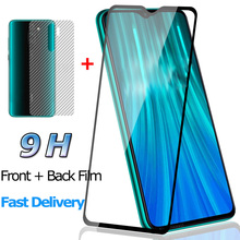 2-in-1 Front + Back Screen Protector for Xiaomi Redmi Note 8 Pro Tempered Glass Film