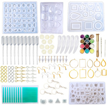 Silicone Resin Kits Jewelry Casting Mold Tools Set Included Jewelry Pendant Moulds, Stud Earrings, Eye Screw Pins And Making