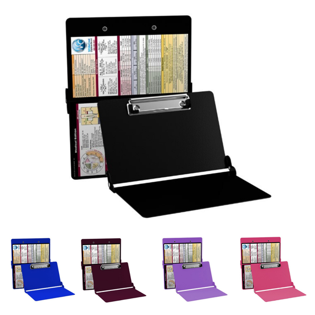 A4 Aluminium Alloy Clipboard Nursing Edition Folding Nursing Clipboard with Quick Reference Material File Organizer Stationery