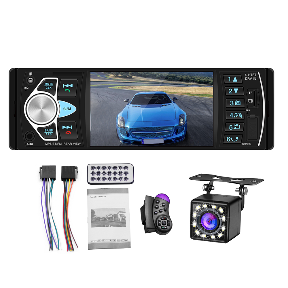 Car-Mp5-Player Autoradio Controller Reversing-Camera Aux-Support Bluetooth Usb 1DIN  title=