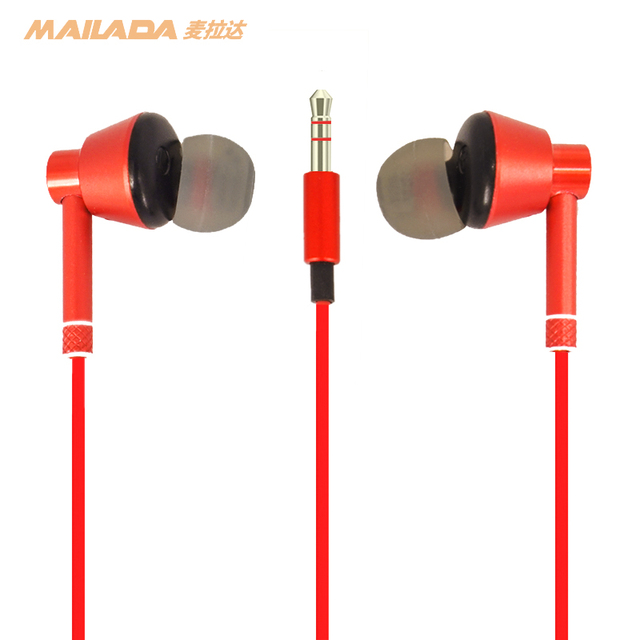 Mailada Monitoring Earphone Plated Heavy Bass Earbud In Ear Music HD Metal In Ear Monitor Bass Headphone For iPhone Huawei
