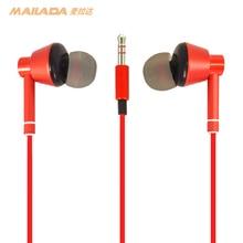 Mailada Monitoring Oortelefoon Plated Heavy Bass Oordopjes In Ear Muziek Hd Metalen In Ear Monitor Bass Hoofdtelefoon Voor Iphone huawei