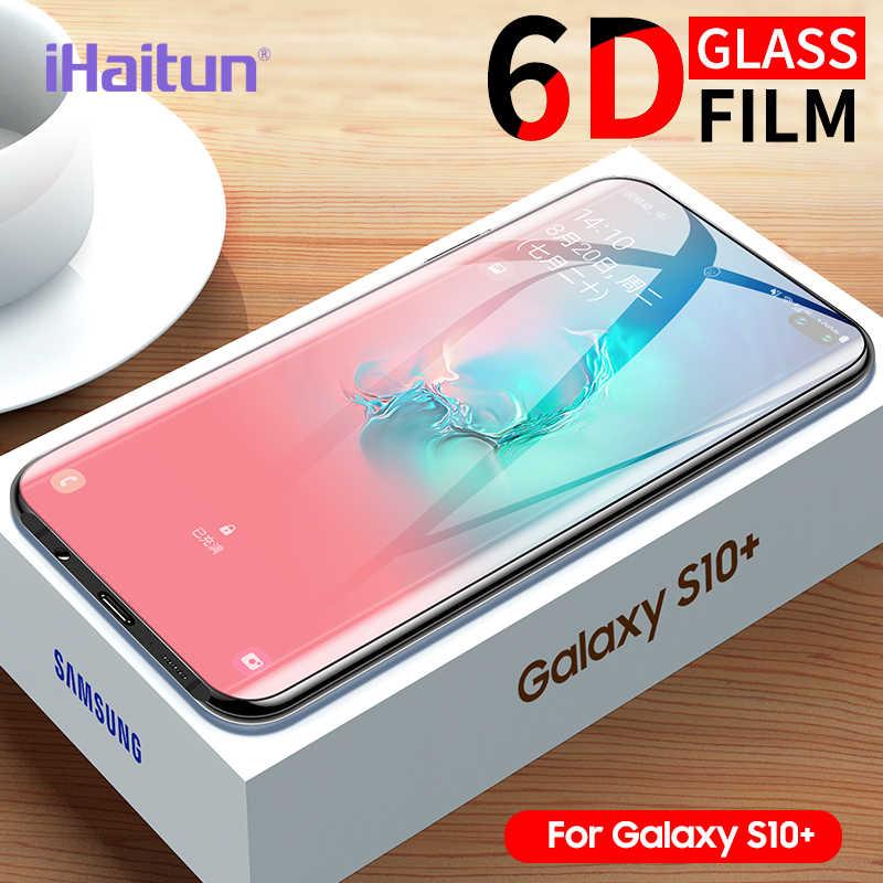 IHaitun полный изогнутый чехол из закаленного стекла для защиты экрана для samsung Galaxy S10 S10E S9 S8 Plus Note 8 9 10 Аксессуары для стекла