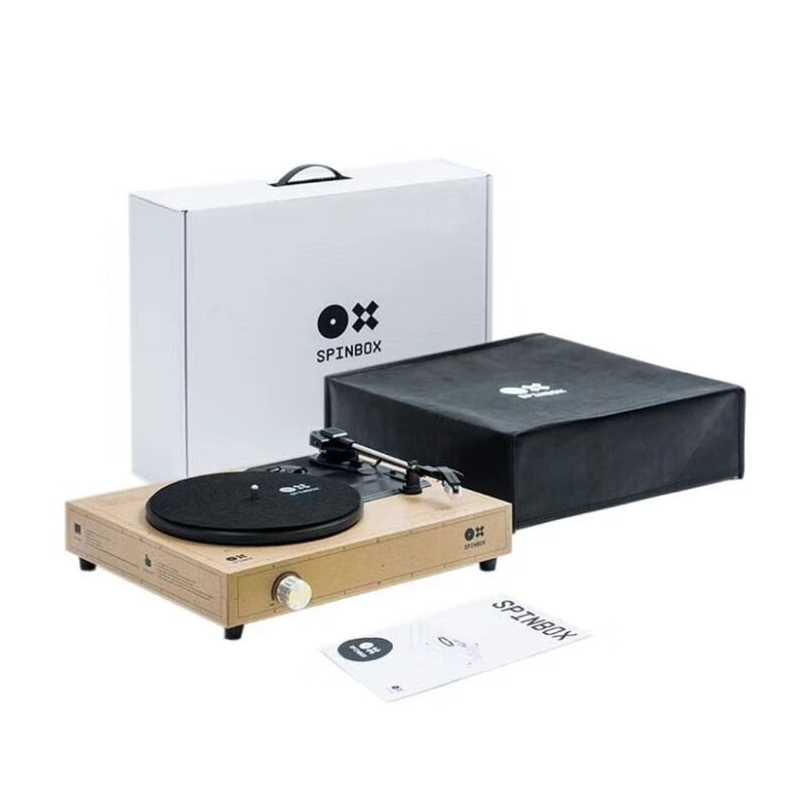 SPINBOX DIY Record Player kit JAPAN Import Portable Phonograph 7 inch Turntable title=