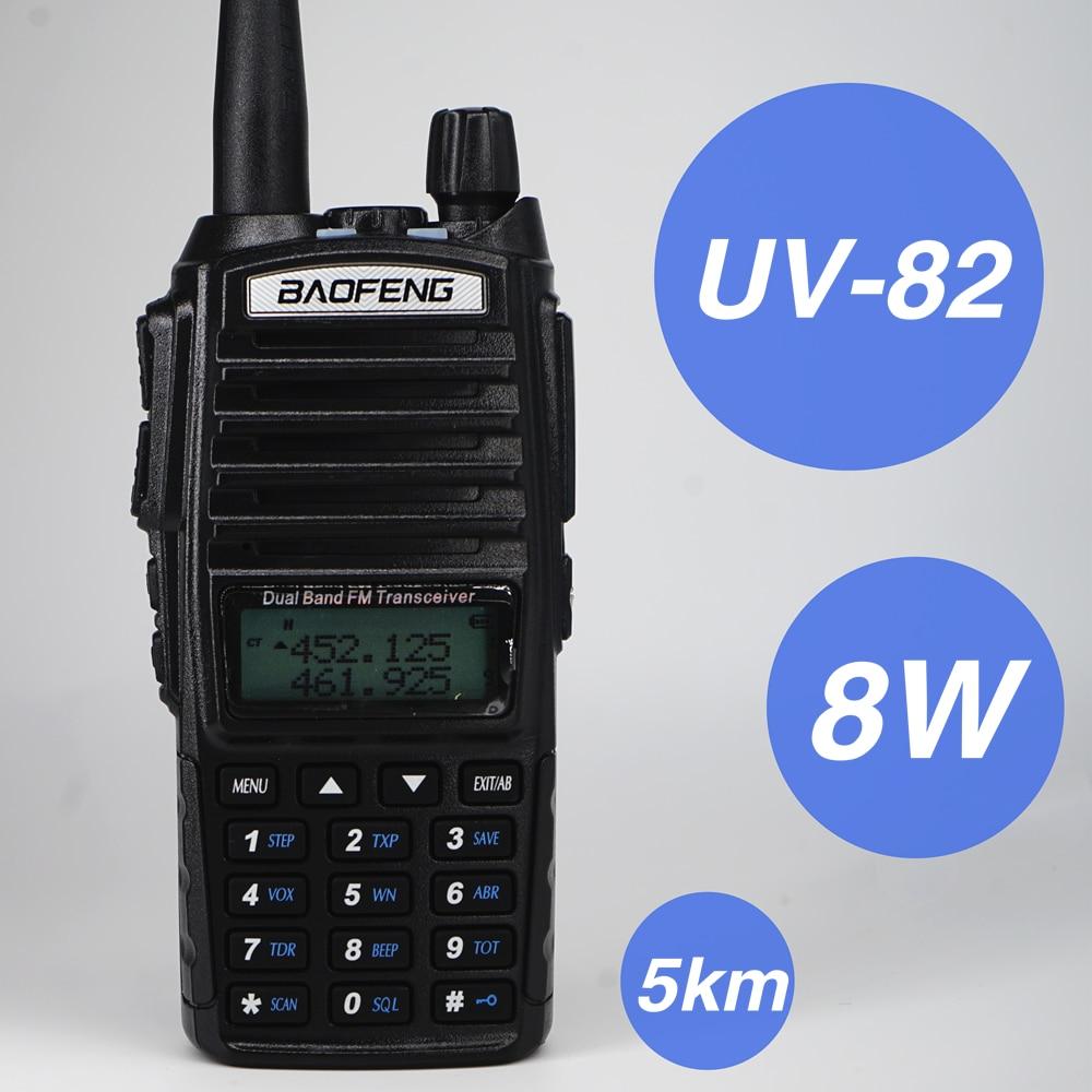 100% Original BAOFENG UV-82 Walkie Talkie Dual Band VHF UHF Two Way Radio Uv82 Antenna For Mobile Car Radios Hunting Station