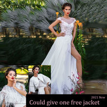 Verngo 2021 Новое ТРАПЕЦИЕВИДНОЕ белое свадебное платье пляжный