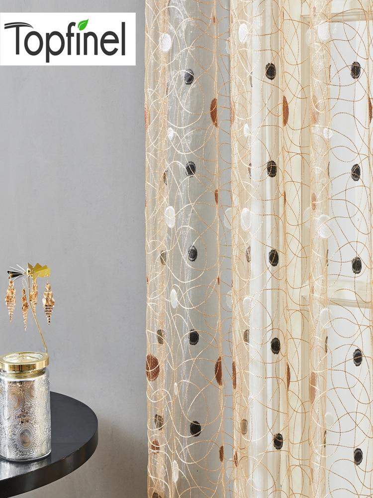 Topfinel Sheer-Curtains Nest Window-Treatment Tulle Bedroom Living-Room Modern-Bird Kitchen