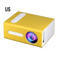 2021 nowy żółty T300 przenośny projektor wysokiej rozdzielczości wydajny projektor LED wielu interfejs rzutnik kina domowego