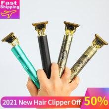 Düzeltici erkekler için saç kesme saç kesme makinesi profesyonel kel kafalı düzeltici sakal elektrikli jilet USB berber
