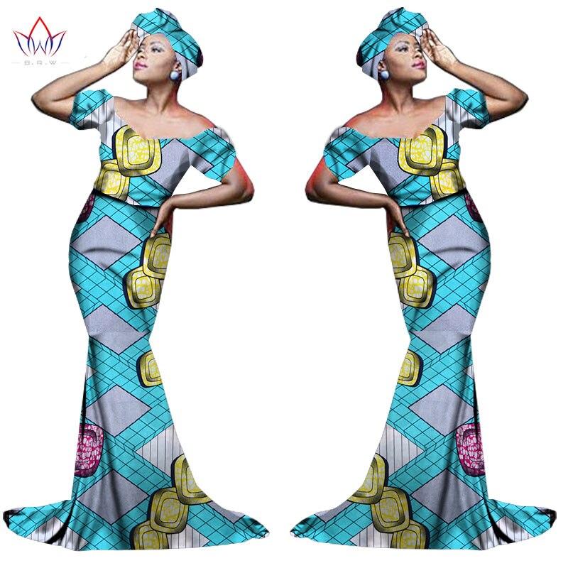 Африканский хлопчатобумажный материал Платья Для Женщин Дашики традиционная Анкара Мода Африка одежда с коротким рукавом Анкара платья WY963 - Цвет: 20