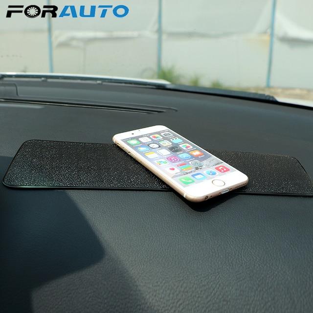אנטי להחליק Mat עבור טלפון רכב לוח המחוונים דביק Pad ג ל קסם החלקה מחצלת מחזיק PU רכב פנים עבור GPS עור מרקם שחור