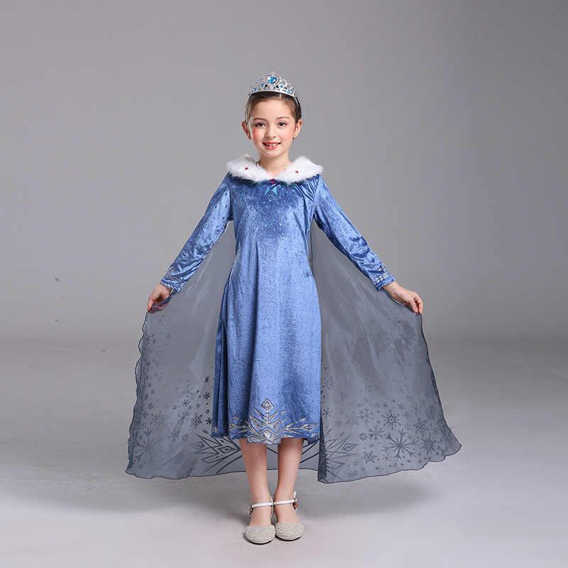 Cosplay de Navidad de Disney Frozen 2 princesa Aisha peluca accesorios de disfraz princesa Cosplay fiesta de cumpleaños vestido de princesa azul cielo