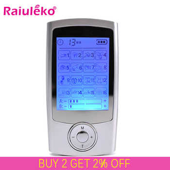 16 Modes Dual Output Health Care Body Massage Electric EMS Muscle Stimulator TENS Unit Electronic Pulse Physiotherapy Massager - DISCOUNT ITEM  41% OFF All Category